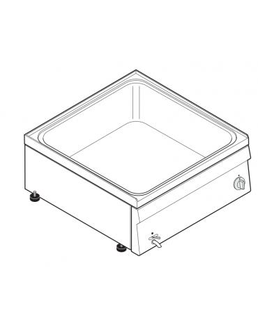 Bagnomaria elettrico da banco monofase-2,6kw, 1 vasca AISI 304 - GN2/1 dim. cm 30,5x51x16,5h - dim tot. cm 35x60x30h