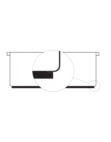Brasiera elettrica da banco trifase-3,3kw con fondo spessore 1 cm, 1 vasca estraibile, cap. 7,5lt - dim tot. cm 35x60x30h