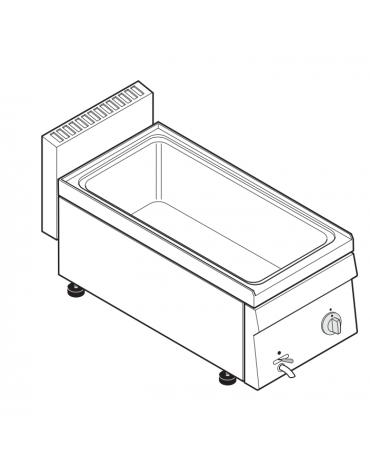Bagnomaria elettrico da banco monofase-1,3kw, 1 vasca AISI 304 - GN1/1 dim. cm 30,5x51x16,5h - dim tot. cm 35x65x28h