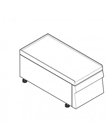 Piano di lavoro accessoriabile con apposito tagliere in materiale atossico, senza cassetto - cm 35x60x30h