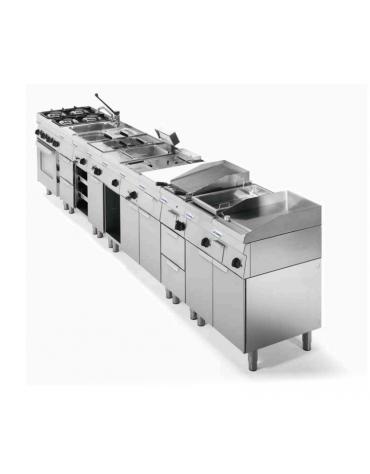 Lavello dotato di vasca stampata cm 40x40x20h - 32 Lt., compreso di miscelatore con manopole - cm 70x60x30h
