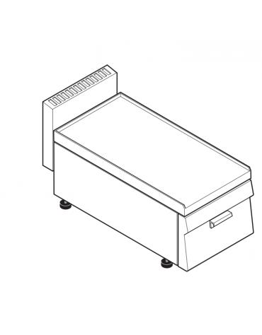 Piano di lavoro accessoriabile con apposito tagliere, 1 cassetto di cm 28,5x53x10h - cm 35x65x28h