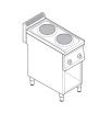 Piano di cottura elettrico trifase-4kw  2 piastre Ø cm 22 su vano aperto dim. cm 34,5x57x40h - dim tot. cm 35x70x85h