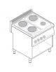Piano di cottura elettrico trifase-7,5kw, 4 piastre 3xØ22 + 1xØ15, su vano aperto cm 69,5x57x40 -cm 70x70x85h