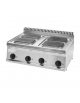 Piano di cottura elettrico trifase-10,4kw, 4 piastre cm 22x22 - cm 70x70x28h