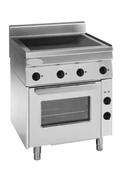 Cucina Elettrica Trifase 111kw 4 Piani Di Cottura In Vetroceramica