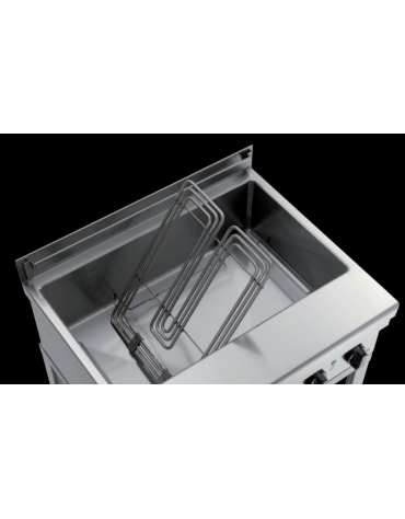 Friggitrice elettrica professionale per pasticceria da banco Lt 35 Kw. 10 - cm 105x58x25h