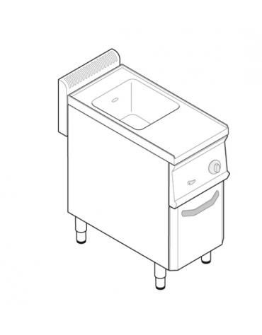 Cuocipasta elettrico trifase-4,8kw, in acciaio in acciaio inox AISI 316 da 23 litri di capacità - cm 35x70x85h