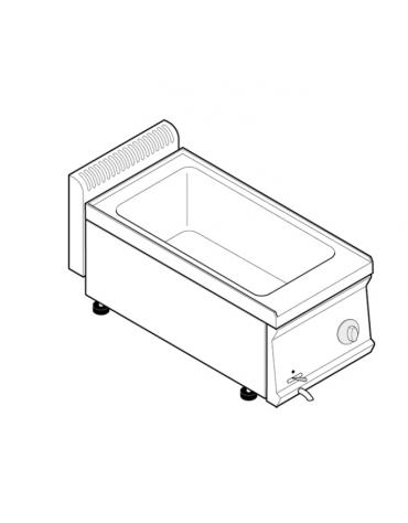 Bagnomaria elettrico da banco monofase-1,3kw, 1 vasca AISI 304 - GN1/1 dim. cm 30,5x51x16,5h - dim tot. cm 35x70x28h