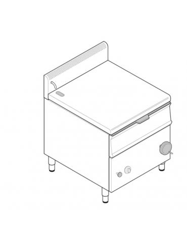 Brasiera elettrica ribaltabile con vasca in acciaio inox AISI304, cap. 50lt - cm 80x70x85h
