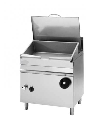Brasiera a gas ribaltabile con vasca in acciaio inox AISI304, cap. 50lt - cm 80x70x85h