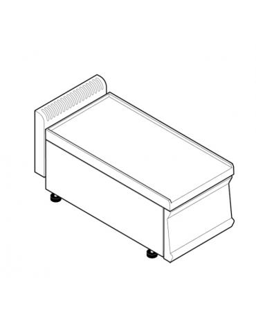 Piano di lavoro accessoriabile con apposito tagliere, senza cassetto - cm 35x70x28h