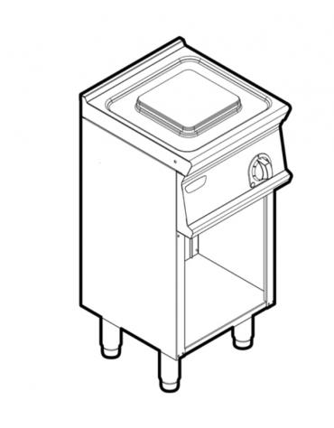 Piano di cottura elettrico monofase-2,6kw, 1 piastra cm 22x22 - cm 40x45x90h