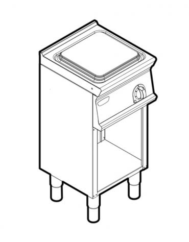 Piano di cottura elettrico monofase-4kw, 1 piastra cm 30x30 su vano aperto - cm 40x45x90h