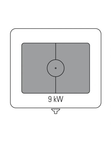 Tuttopiastra a gas cm 74,2x55,8 su vano aperto, 1 bruciatore - cm 80x70x28h
