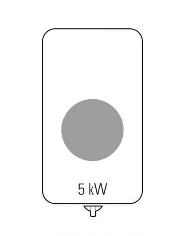 Piano di cottura ad induzione Wok trifase-5kw, con 1 piano di cottura - cm 40x70x28h