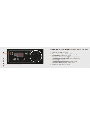 Fry top elett. trifase-3,9kw su vano aperto, piastra liscia cromata - con controllo elettronico - dim. 40x70x90h