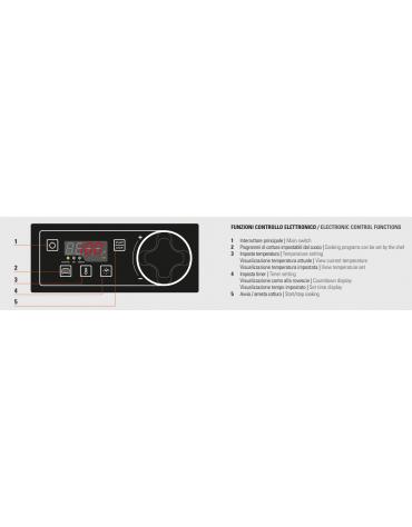 Fry top elettrico trifase-7,8kw su vano aperto, 1/3 piastra rigata - con controllo elettronico - dim. 80x70x90h