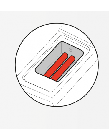 Friggitrice a gas freestanding, 1 vasca con scambiatori di calore, cm 24x34,2x30,5h - 13lt - cm tot. 40x70x90h