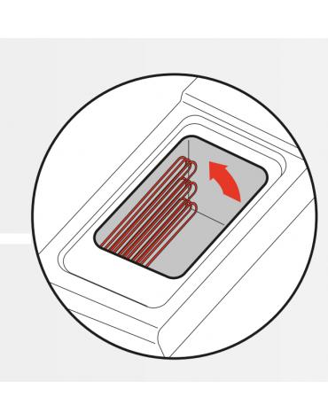 Friggitrice elettrica su mobile trifase-24kw con controllo elettronico - 2 vasche con resistenze rotanti 13+13Lt. - cm 80x70x90h