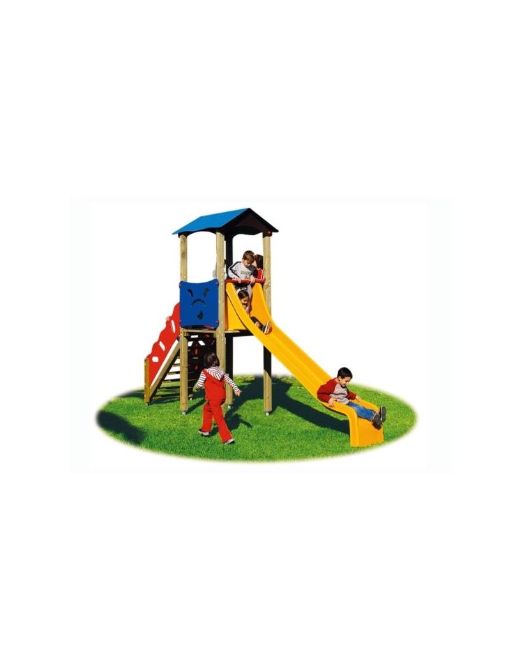 Torretta per parco giochi con scivolo in acciaio inox for Scivolo da giardino usato