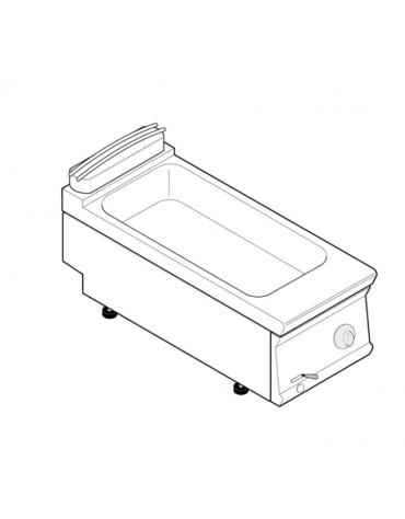 Bagnomaria elettrico da banco monofase-1,3kw, 1 vasca AISI 304 - GN1/1 dim. cm 30,6x50,8x16,5h - dim tot. cm 40x70x28h