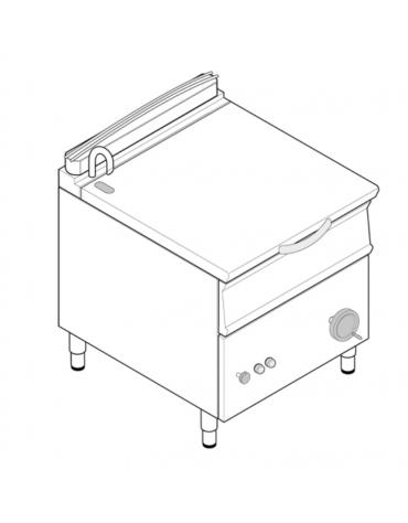 Brasiera a gas ribaltabile con vasca inox AISI304, cap. 50lt - cm 80x70x90h