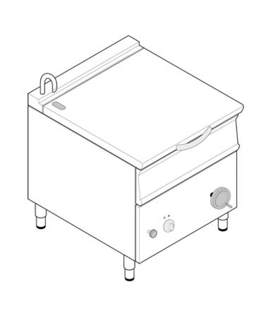Brasiera elettrica ribaltabile con vasca in acciaio AISI304, cap. 50lt - cm 80x70x90h