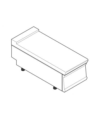 Piano di lavoro in acciaio inox con piano rinforzato, senza cassetto - cm 40x70x28h