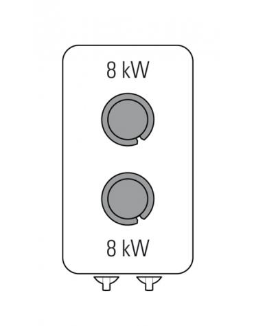 Piano di cottura a gas 2 fuochi su vano aperto, potenza fuochi aperti 2X8kw - cm 40x90x90h