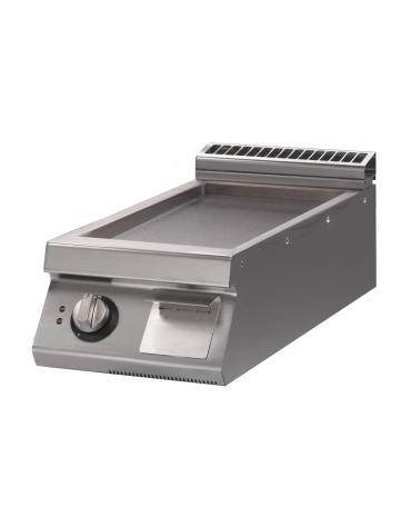 Fry Top elettrico con piastra liscia versione top m.70/40