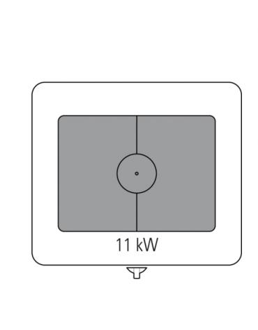 Tuttopiastra a gas, 1 bruciatore cm 76,6x68,3 su vano aperto - cm 80x90x90h