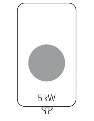 Piano di cottura ad induzione Wok trifase-5kw, con 1 piano di cottura - cm 40x90x28h