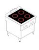 Piano di cottura elettrico trifase-13,6kw su vano aperto cm 77x76,1x39,5h, 2 piani di cottura in vetroceramica - cm 80x90x90h