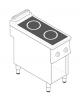 Piano di cottura ad induzione trifase-10kw su vano aperto cm 33x76,1x39,5h, 2 piani di cottura - cm 40x90x90h