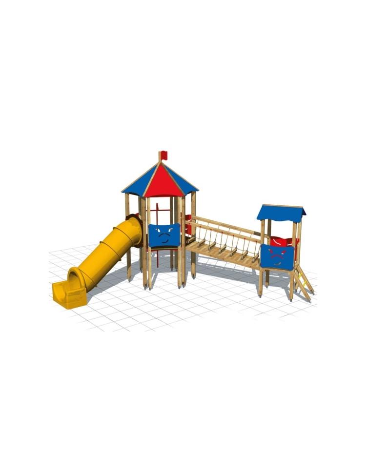 Villaggio marbella scivolo tunnel torrette medie per for Scivolo da giardino usato