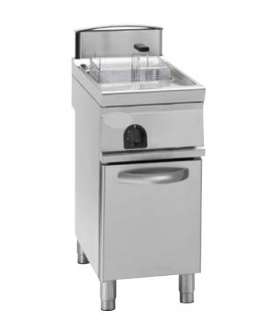 "Friggitrice a gas freestanding, 1 vasca con vasca a ""V"" 21lt - cm tot. 40x90x90h"