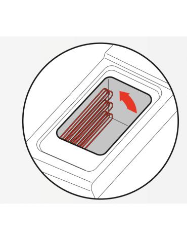 Friggitrice elettrica su mobile trifase-20kw - 1 vasca con resistenze rotanti 21Lt. - cm 40x90x90h