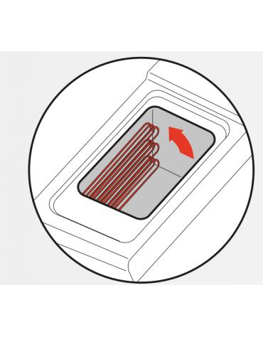 Friggitrice elettrica su mobile trifase-16,5kw con controllo elettronico - 1 vasca con resistenze rotanti 17Lt. - cm 40x90x90h