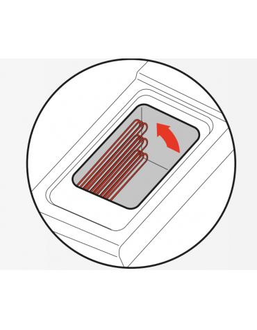 Friggitrice elettrica su mobile trifase-33kw con controllo elettronico - 2 vasche con resistenze rotanti 17+17Lt. - cm 80x90x90h
