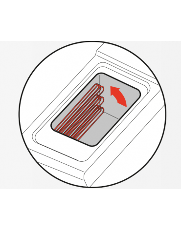 Friggitrice elettrica su mobile trifase-40kw con controllo elettronico - 2 vasche con resistenze rotanti 21+21Lt. - cm 80x90x90h