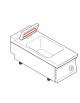 Scaldapatate elettrico monofase-1,65kw da banco, 1 vasca GN1/1 dim. cm 32,5x53x15h - dim tot. cm 40x90x28h