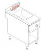 Scaldapatate elettrico monofase-1,65kw su vano aperto, 1 vasca GN1/1 dim. cm 32,5x53x15h - dim tot. cm 40x90x90h