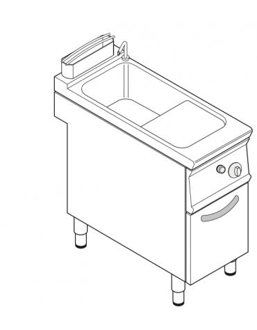 Cuocipasta elettrico trifase-15kw, inox AISI 316 da 40 litri di capacità - cm 40x90x90h