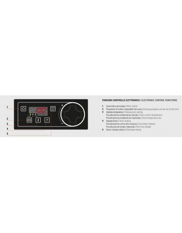 Cuocipasta elettrico trifase-9kw con controllo elettronico, inox AISI 316, 1 vasca da 40 litri di capacità - cm 40x90x90h