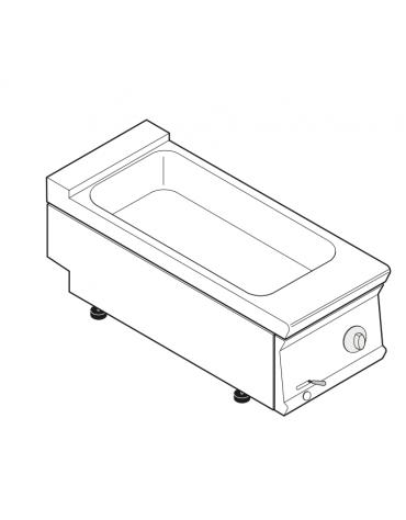 Bagnomaria elettrico da banco trifase-3kw, 1 vasca AISI 304 - GN1/3 dim. cm 30,8x68,6x16h - dim tot. cm 40x90x28h