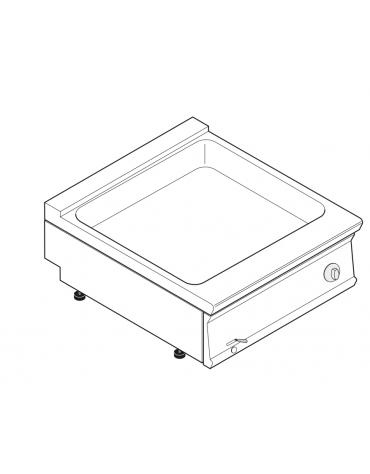 Bagnomaria elettrico da banco trifase-4,5kw, 1 vasca AISI 304 - GN1/3 dim. cm 63x68,6x16h - dim tot. cm 80x90x28h