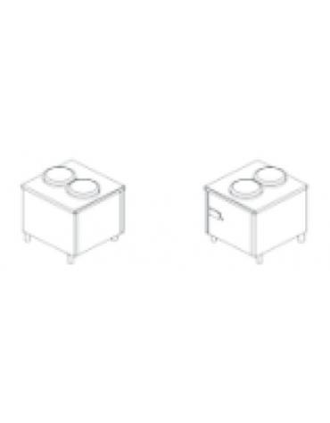 Elemento sollevamento piatti automatico per self-service - A due colonne - Cm 80x80x90h - NEUTRO
