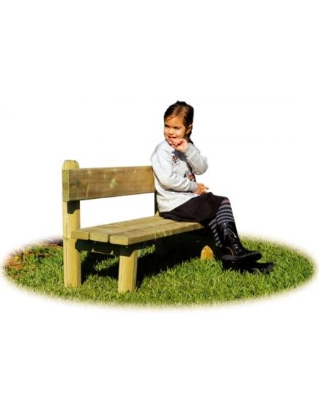 Panca Con Schienale In Legno Per Bambini Da Esterno Giochi