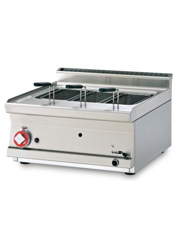 Cuocipasta a gas da banco, 1 vasca, in acciaio CrNi 18/10 AISI 304 da 19 litri di capacità - cm 60x60x28h
